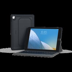 iPad 10.2 (2019) - ZAGG Rugged Messenger Keyboard Cover (Nordisk) - Sort