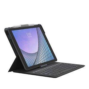 iPad 10.2'' / 10.5'' - ZAGG Messenger Folio 2 Tastatur (Engelsk Version) m. Apple Pencil Holder - Charcoal - Grå