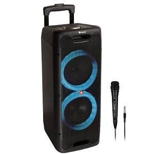 NGS Wildjungle2 Bluetooth Bærbar Partyspeaker 300W m. Mikrofon - Sort