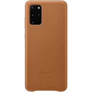 Original Samsung Galaxy S20+ (Plus) Leather Cover EF-VG985LA - Brun