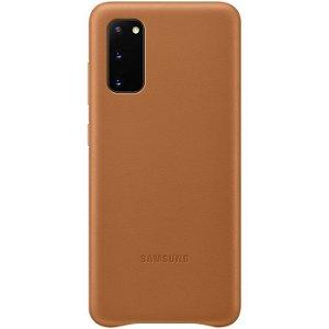 Original Samsung Galaxy S20 Leather Cover EF-VG980LA - Brun
