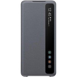 Original Samsung Galaxy S20+ Clear View Cover EF-ZG985CJ - Grå