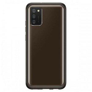 Original Samsung Galaxy A02s Soft Clear Bagside Case (EF-QA026TBEGEU) - Sort