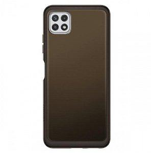 Original Samsung Galaxy A22 (5G) Soft Clear Bagside Plastik Case EF-QA226TB - Sort
