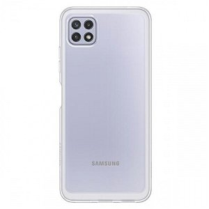 Original Samsung Galaxy A22 (5G) Soft Clear Plastik  Bagside Cover EF-QA226TT - Gennemsigtig