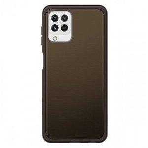 Original Samsung Galaxy A22 (4G) Soft Clear Bagside Plastik Case (EF-QA225TB) - Sort