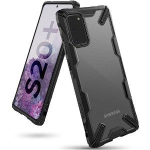 Samsung Galaxy S20+ (Plus) Ringke Fusion X Cover - Sort / Gennemsigtig