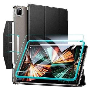 "iPad Pro 12.9"" (2021) ESR Ascend Tri-Fold Case m. Skærmbeskyttelse - Sort"