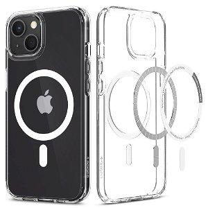 Spigen iPhone 13 Ultra Hybrid Bagside Cover - MagSafe Kompatibel - Gennemsigtig / Hvid