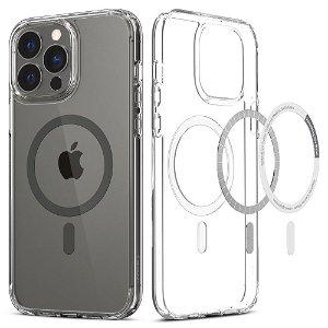 Spigen iPhone 13 Pro Max Ultra Hybrid Bagside Cover - MagSafe Kompatibel - Gennemsigtig / Grå