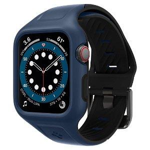 Apple Watch (42-45mm) SPIGEN Liquid Air Pro Case m. Rem - Blå