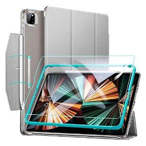 """iPad Pro 12.9"""" (2021) ESR Ascend Tri-Fold Case m. Skærmbeskyttelse - Grå"""