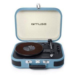 MUSE Vintage Bluetooth Stereo MT-201 Pladespiller - Vintage Blå