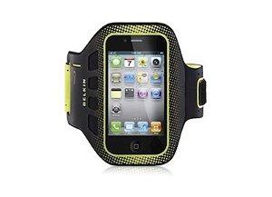 Belkin iPhone 4/4S Sport Armband - Sort/Gul