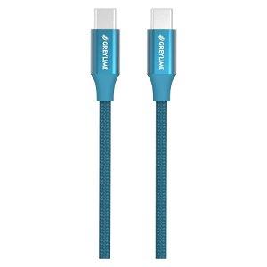 GreyLime Braided USB-C til USB-C Kabel 1 meter - Blå