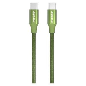 GreyLime Braided USB-C til USB-C Kabel 1 meter - Grøn