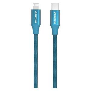 GreyLime 18W Braided USB-C til Lightning Kabel 1 meter - Blå