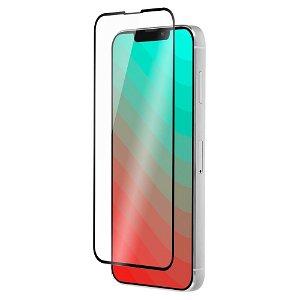 QDOS iPhone 13 / 13 Pro OptiGuard Curved Glass Skærmbeskyttelse - Case Friendly - Sort Kant