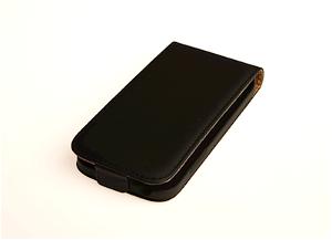 Samsung Galaxy S4 Mini Flip Etui - Sort