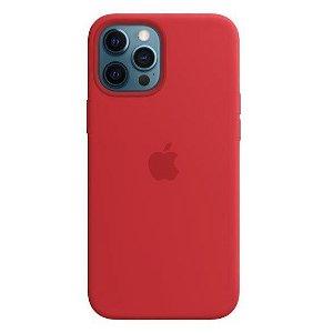 Original Apple iPhone 12 Pro Max Silikone MagSafe (PRODUCT) RED Bagside Case -Rød (MHLF3ZM/A)