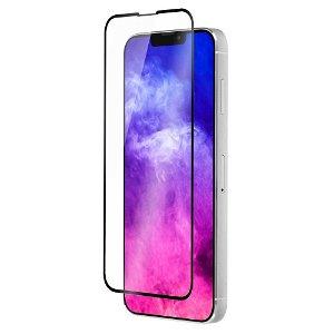 QDOS iPhone 13 Pro Max OptiGuard Curved Glass Skærmbeskyttelse - Case Friendly - Sort Kant