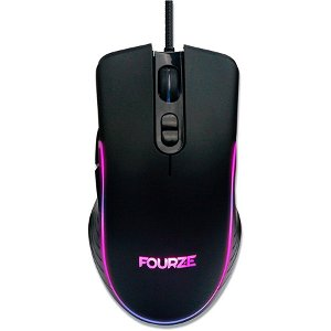 Fourze GM120 Gaming Mouse m. RGB - Sort