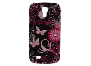 Samsung Galaxy S5 Flower Cover - Sort/Pink
