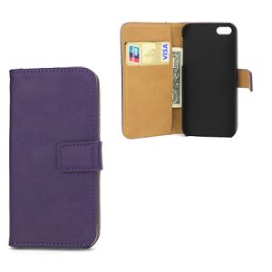 iPhone 5/5S/SE Card Wallet Etui - Lilla