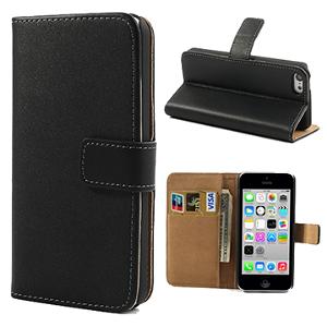 iPhone 5C Card Wallet Etui - Sort