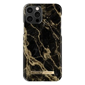 iDeal Of Sweden iPhone 12 Pro / 12 Fashion Case Golden Smoke Marble