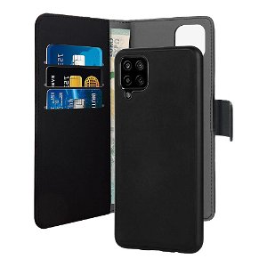 Samsung Galaxy A12 Puro Wallet Detachable 2-In-1 Flip Cover - Sort