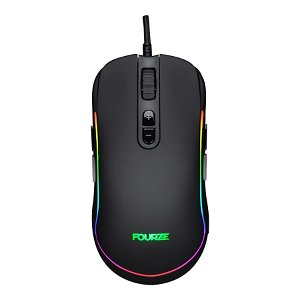 Fourze GM700 Gaming Mouse m. RGB - Sort