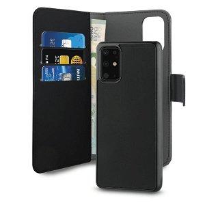 Puro Detachable Samsung Galaxy S20+ (Plus) 2-IN-1 Wallet Læder Cover - Sort