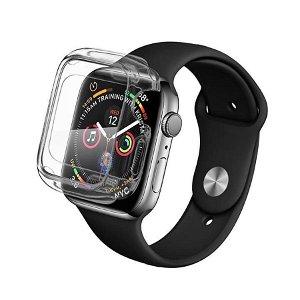 Apple Watch SE / 6 / 5 / 4 (44mm) QDOS Infinity Glass Cover - Gennemsigtig