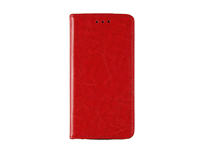 Samsung Galaxy S6 Card Etui Vintage - Rød