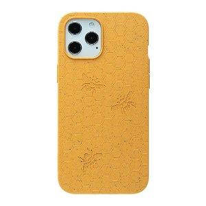 Pela Classic Honey Comb Miljøvenligt Cover Til iPhone 12 Mini - Orange