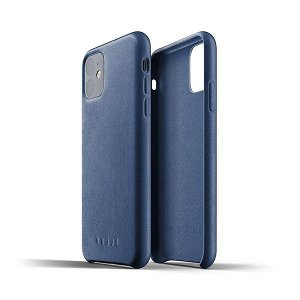 Mujjo iPhone 11 Pro Max Cover Full Leather Case - Blå