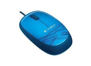 LOGITECH M105 Corded Mouse - Blå