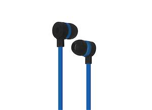Puro Sport Stereo Flatcable Earphone - AUX-Stik - Sort/Mørkeblå