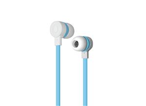 Puro Sport Stereo Flatcable Earphone - Hvid/Blå