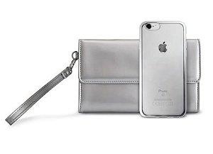 PURO Satin Cover Og Taske iPhone 7 - Sølv