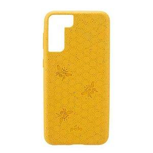 Pela Classic Honey Comb Miljøvenligt Cover Til Samsung Galaxy S21 - Orange