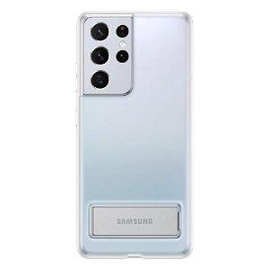 Original Samsung Galaxy S21 Ultra Clear Standing Cover - Gennemsigtig (EF-QG998CTEGWW)