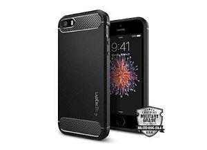 SPIGEN iPhone 5/5S/SE Rugged Armor Cover - Sort