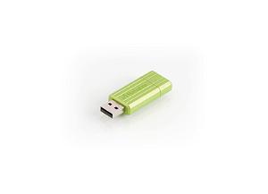 VERBATIM USB Stik 16 GB Store 'N' Go Pin Stripe - Grøn